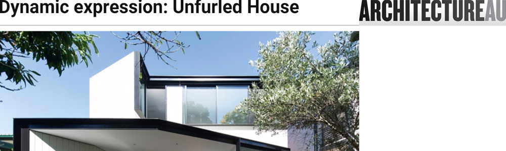 Unfurled House has been published at ArchitectureAU