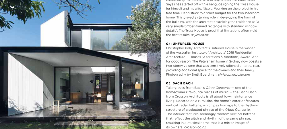 Unfurled House Featured In Grand Designs Australia Magazine