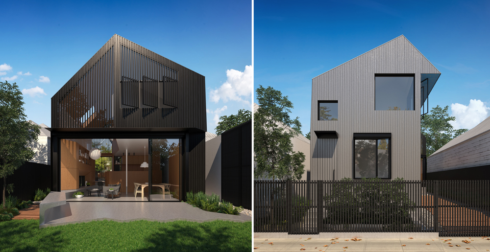 Liu Eland House visualisations showcase the design of a new house in Lilyfield
