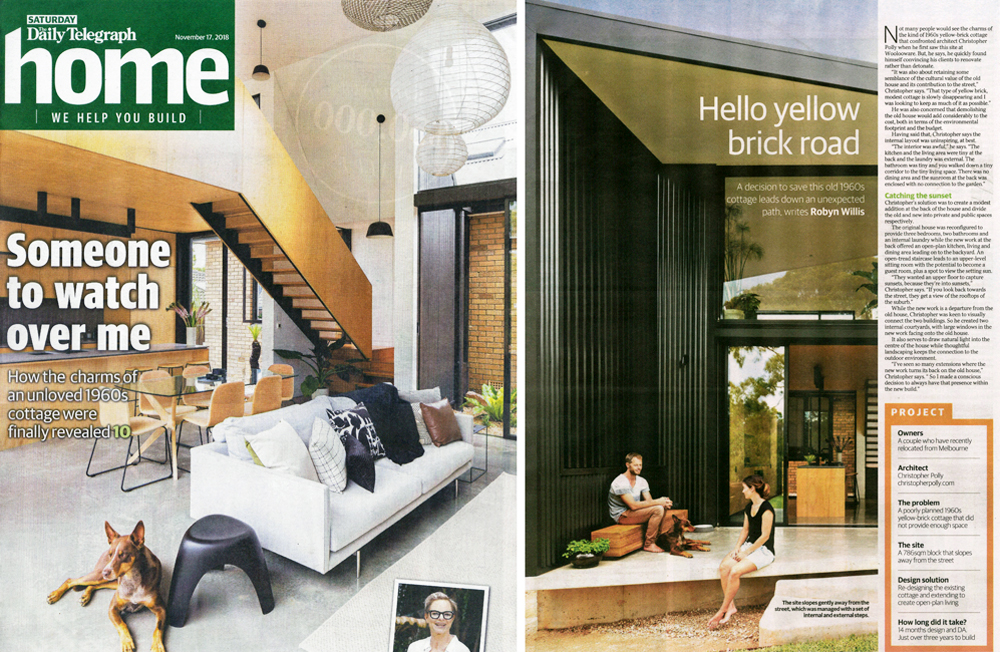 Binary House has been published in the Daily Telegraph's Home magazine