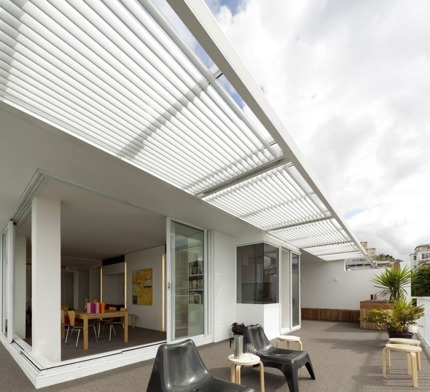 Darling Point Penthouse terrace & steel pergola
