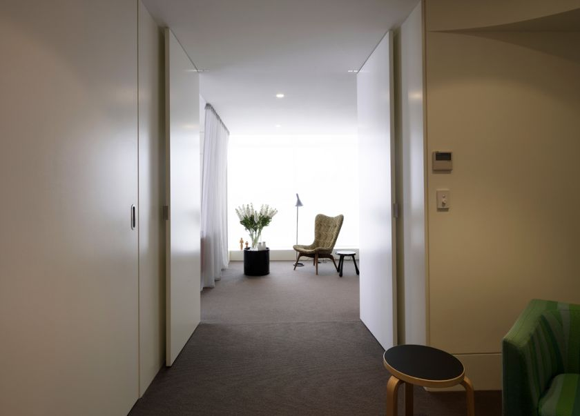 Darling Point Penthouse bedroom folding & sliding doors sequence