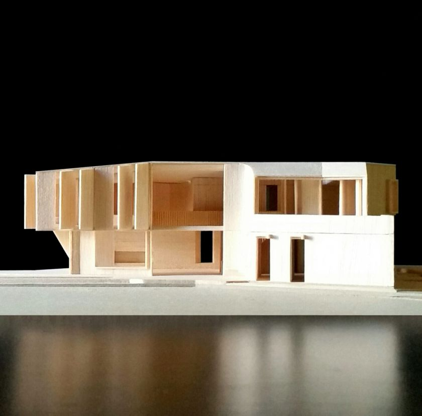 Flexion House model northern elevation view