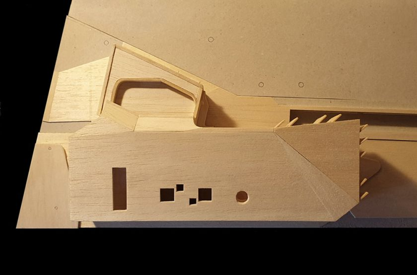 Flexion House model aerial view
