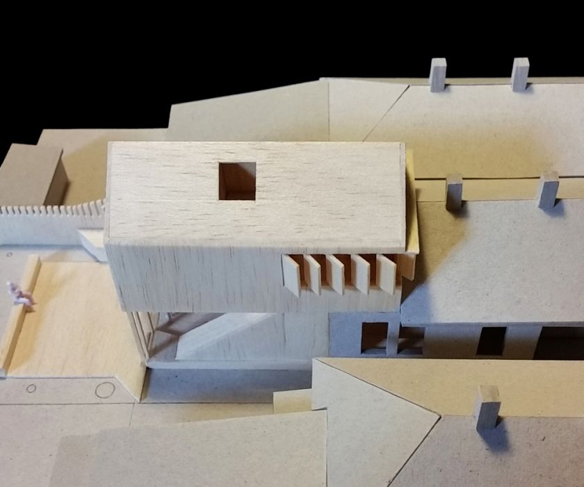 Haoui House model aerial view