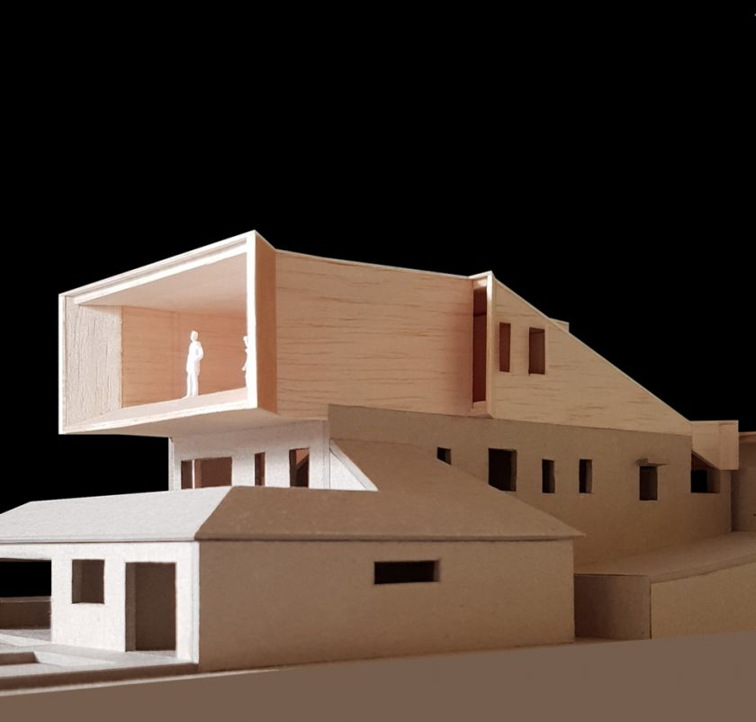 Manifold House model rear oblique view