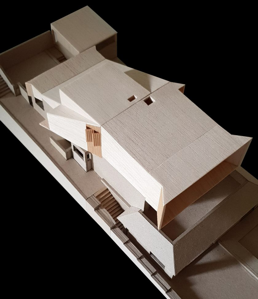 Manifold House model aerial view