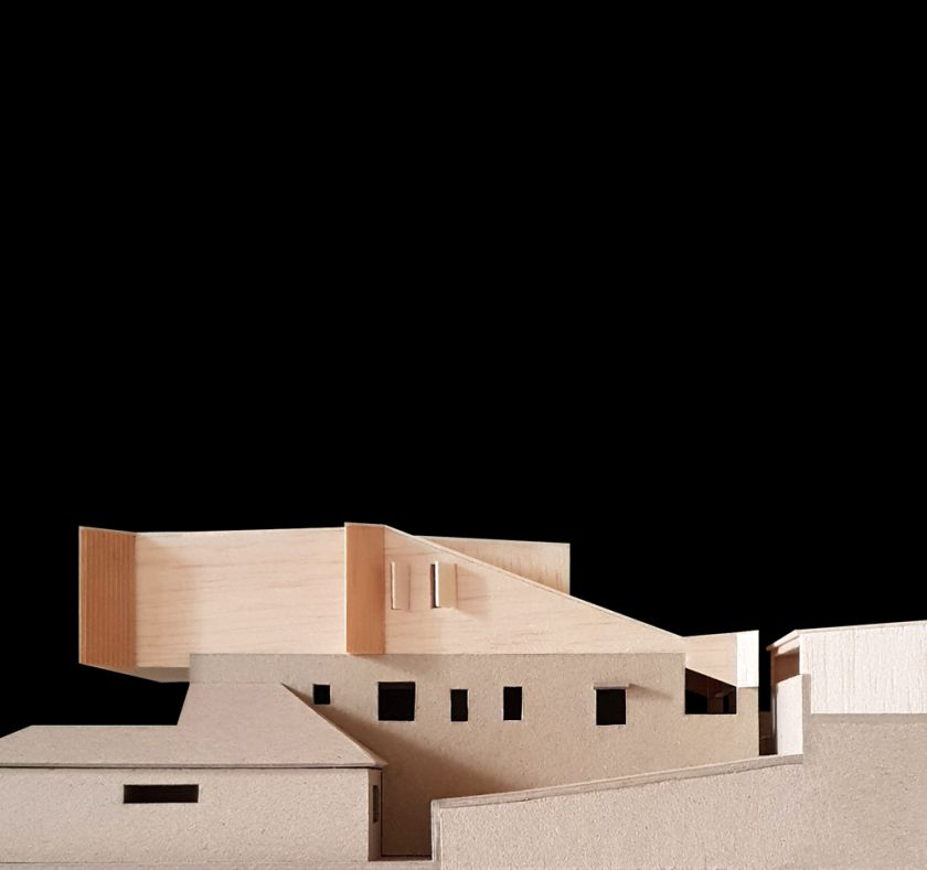 Manifold House model side view