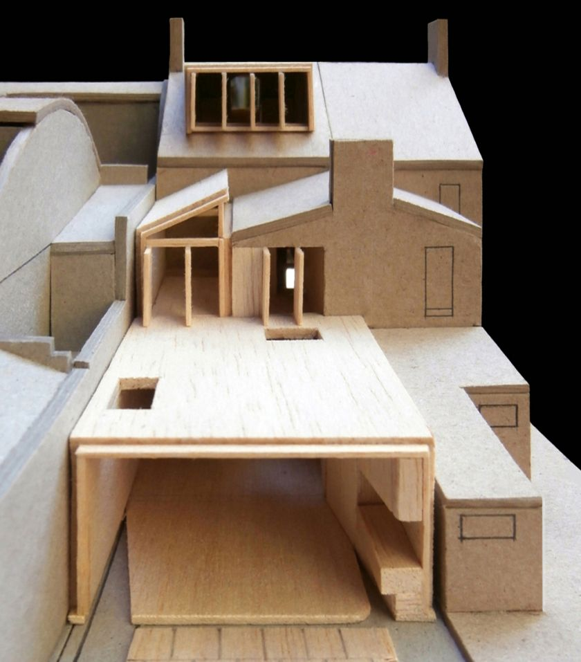 Newtown House aerial view of model