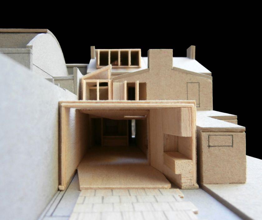 Newtown House elevation view of model