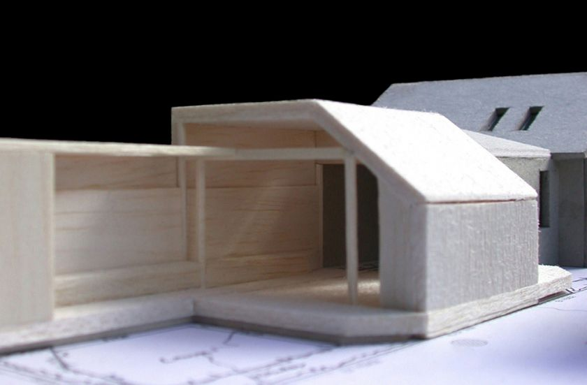 Pugh Drinan House exterior view of model