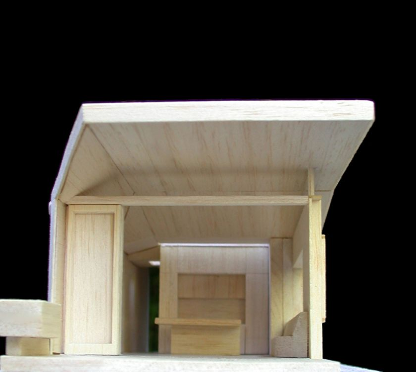 Thomas Geary House exterior elevation of model