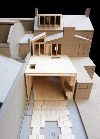 Weigh May House aerial of model