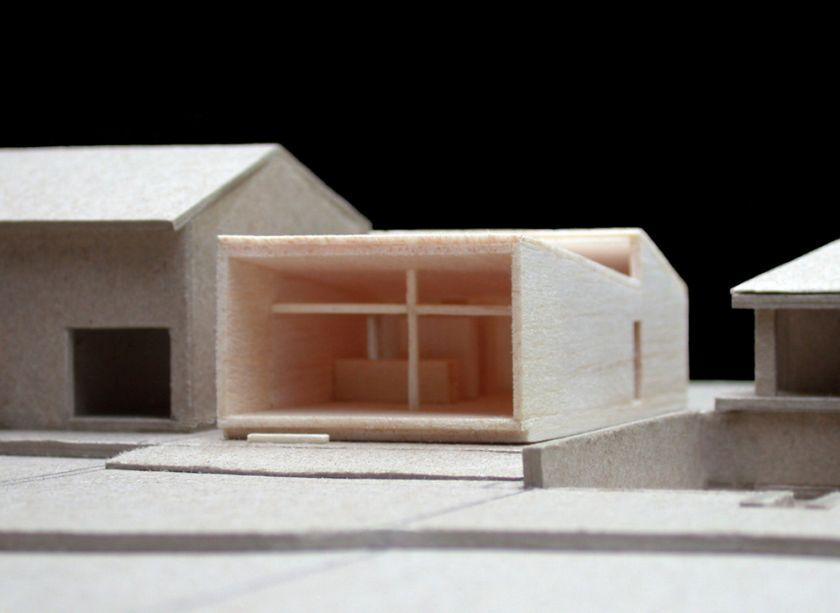 Woonona House Studio exterior oblique view of model