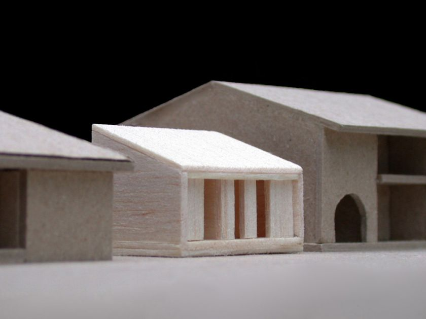 Woonona House Studio exterior front view of model