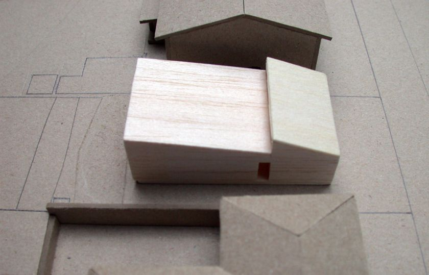Woonona House Studio aerial view of model