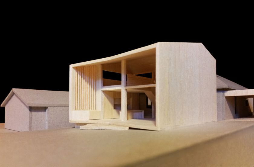 Farrington Ellis House oblique view of model