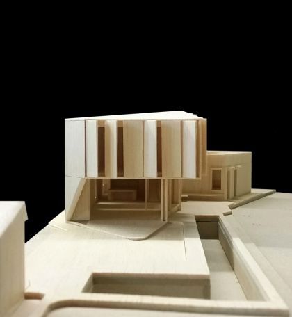 Flexion House model eastern elevation view